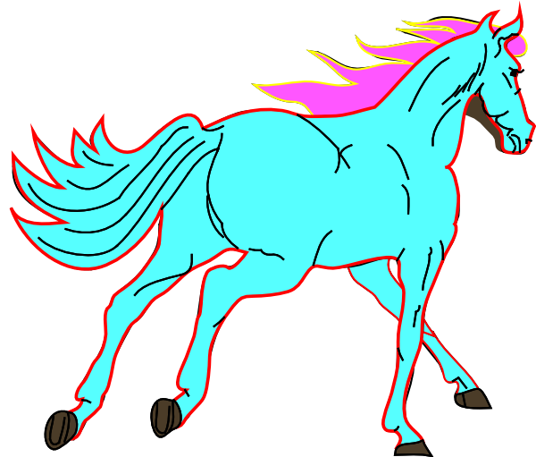 Horse Blue Clip Art  Png And Svg