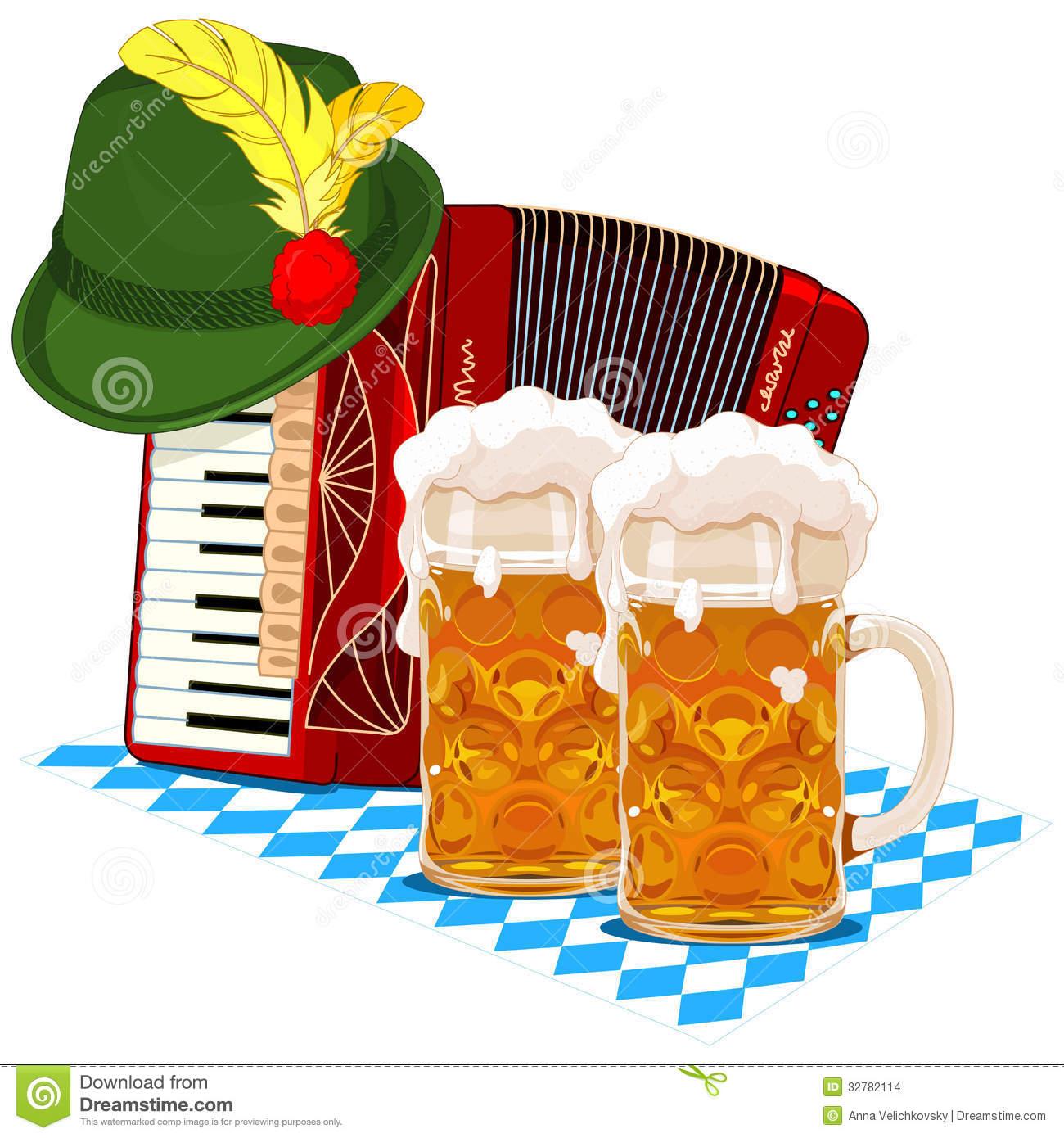 Clip Art Oktoberfest Clipart oktoberfest hat clipart kid design with accordion beer and bavarian hat