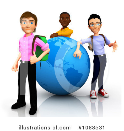 Royalty Free  Rf  College Student Clipart Illustration  1088531 By