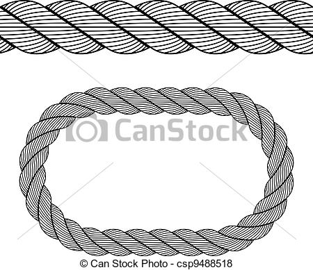 Vector Of Vector Seamless Black Rope Symbol Csp9488518   Search Clip