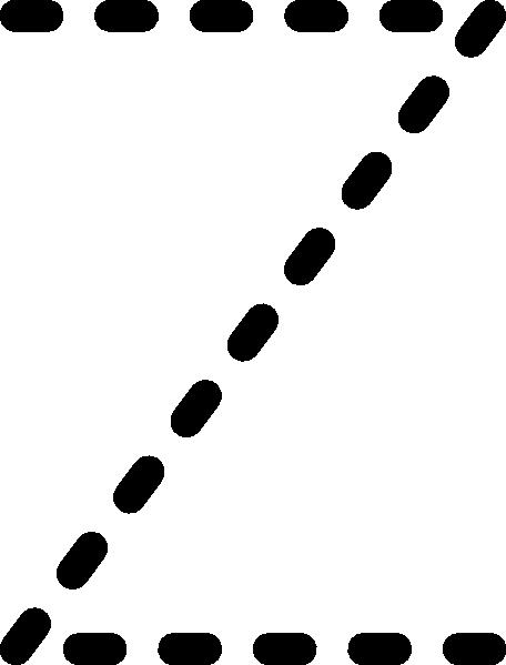 Alphabet Tracing Letter Z Clip Art