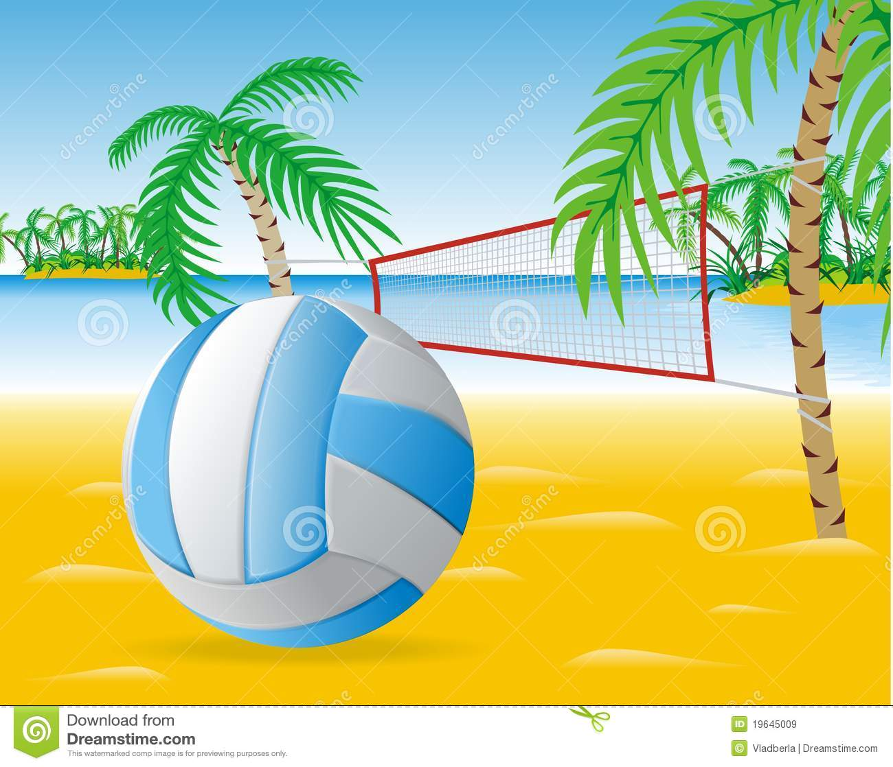 Beach Volleyball Clipart Beach Volleyball