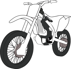 Black White Motorcycle Clip Art At Clker Com   Vector Clip Art Online