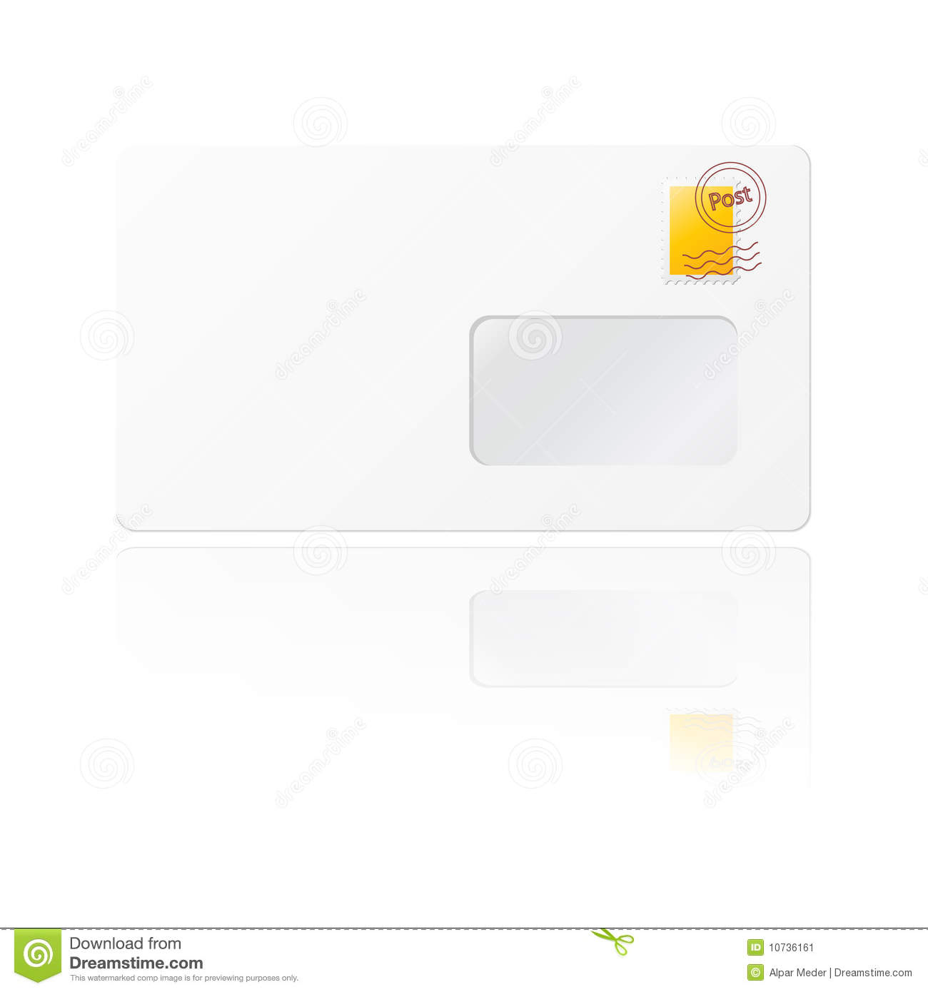 Blank Envelope With Yellow Stamp