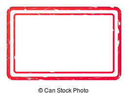 Blank Red Used Business Stamp Isolated On White Background