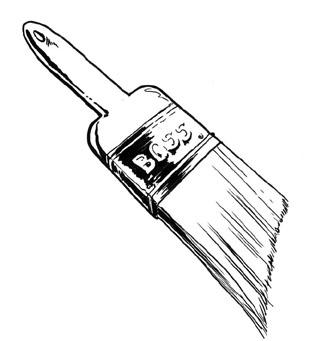 Paint Brush Clip Art Black And White