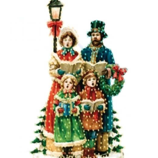 Christmas Carolers Singers Vintage Decorations By: Outdoor Christmas Decorations Clipart
