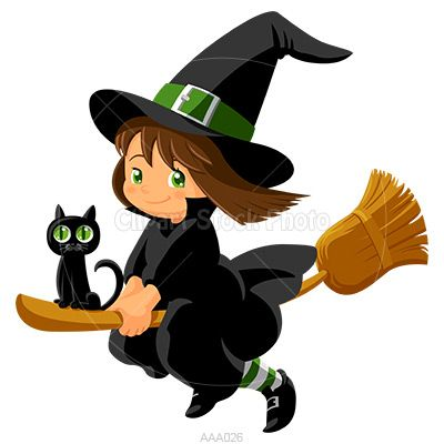 Flying Witch Halloween Baby Clip Art Cartoon Witch Witch Clipart