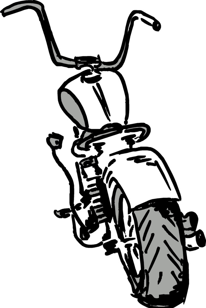 Motorcycle Cartoon Harley Davidson Xl 1200l Sportster 1200 On