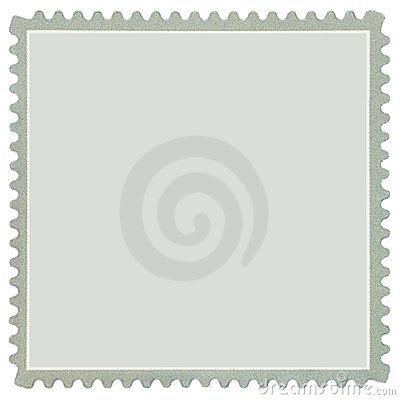 Square Blank Postage Stamp In Grey Macro Isolated Stock Photo   Image