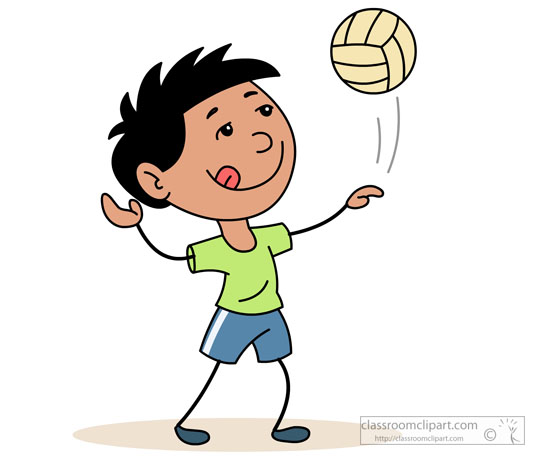Volleyball Clipart   Serving Volleyball On The Beach   Classroom