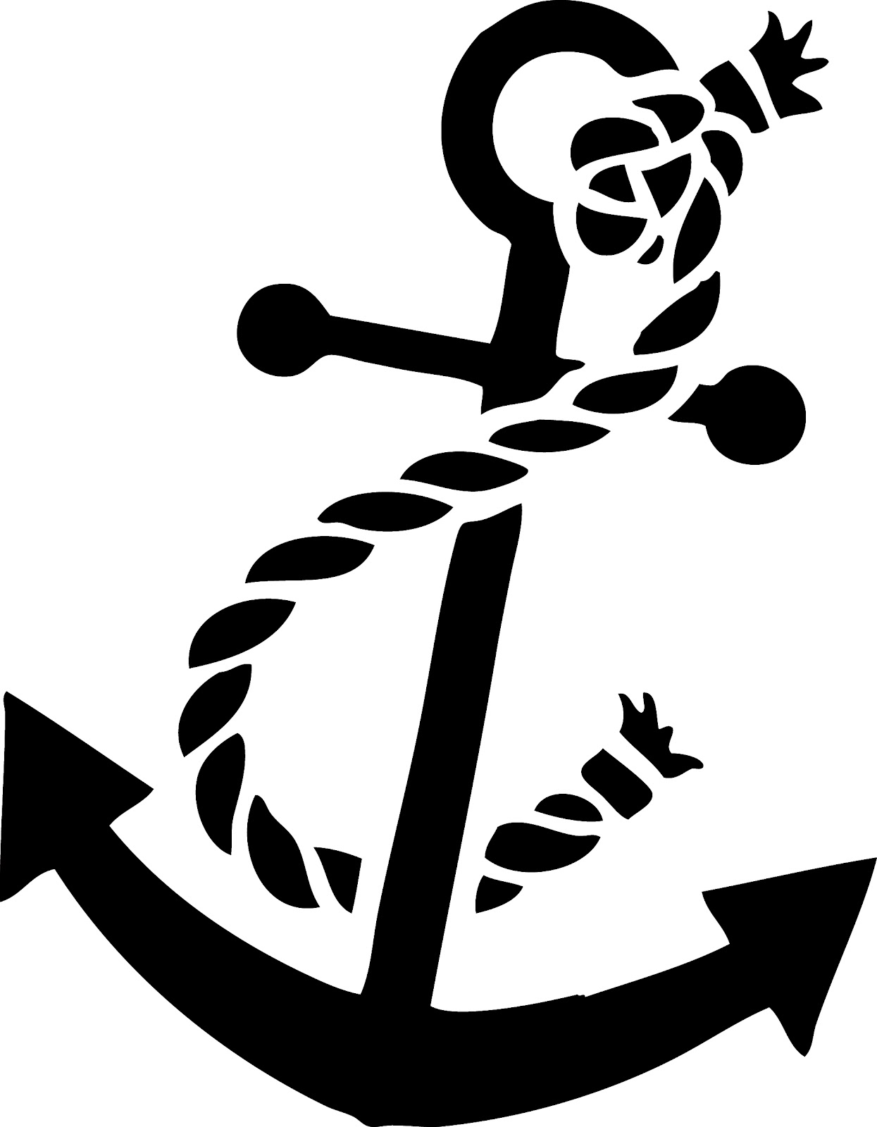 Anchor With Rope Clipart Vintage Clip Art   Anchor