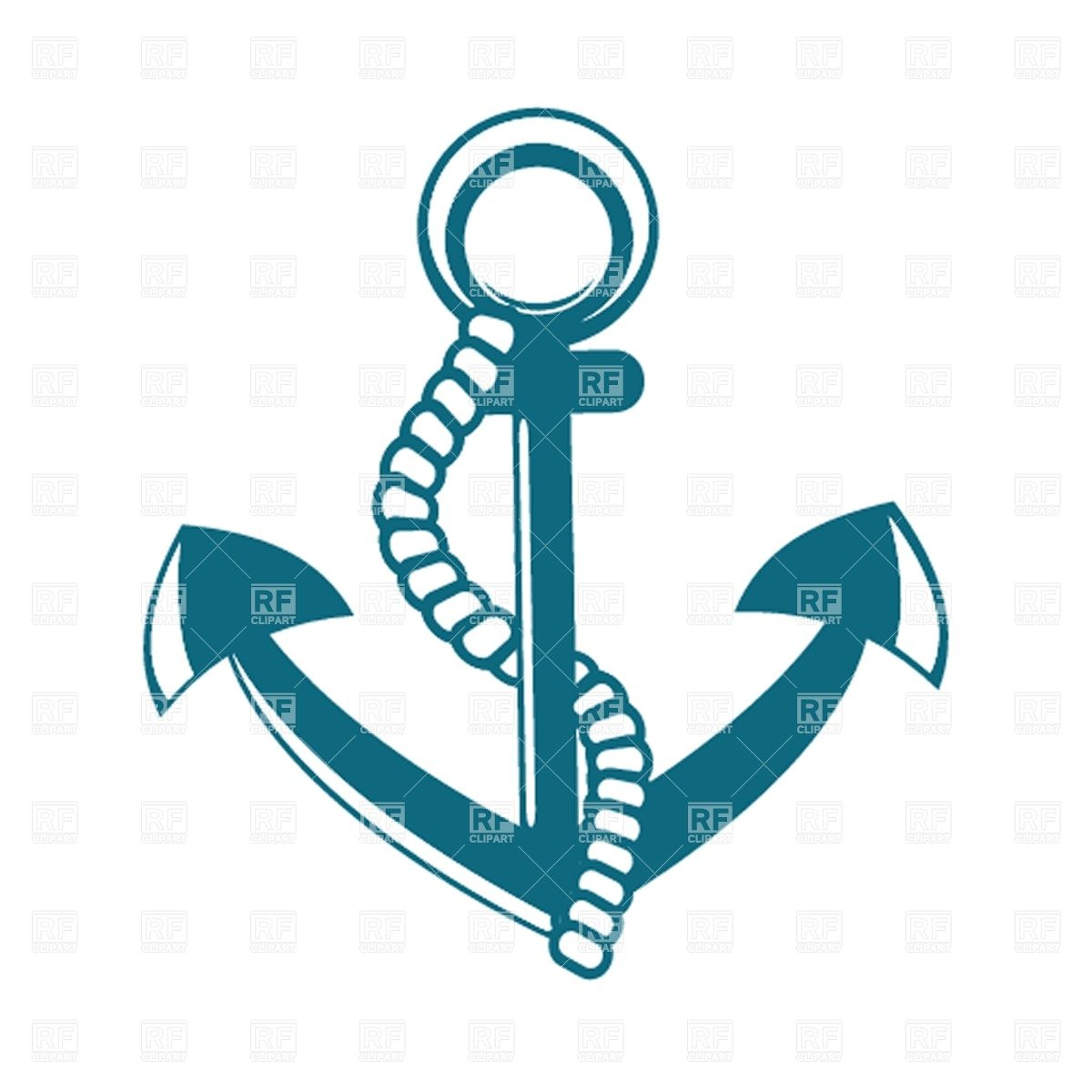 Anchor With Rope Download Royalty Free Vector Clipart  Eps