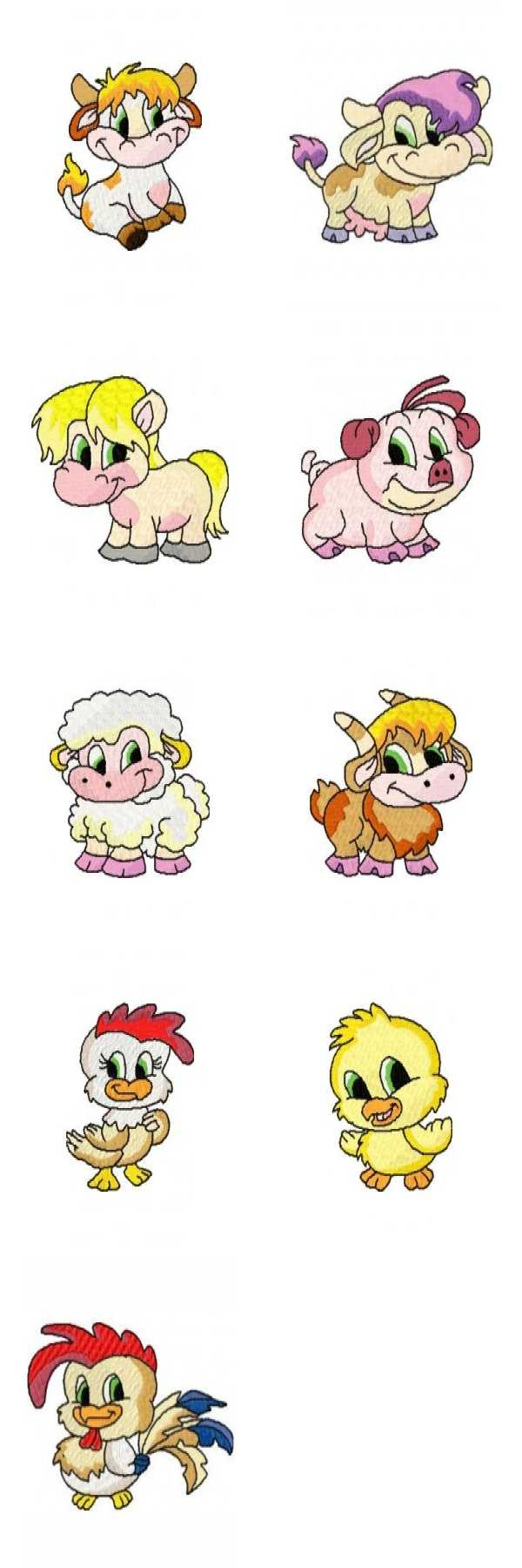 Baby Farm Animal Clip Art