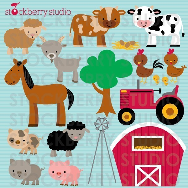 Baby Farm Animal Clipart Baby Farm Animal Clipart Farm