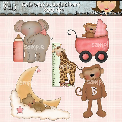 Baby Farm Animal Clipart