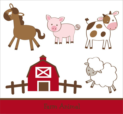 Back   Gallery For   Baby Farm Animals Clip Art Eps