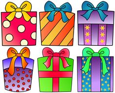 Birthday Present Clipart For Your Project Or Classroom  Free Png Files
