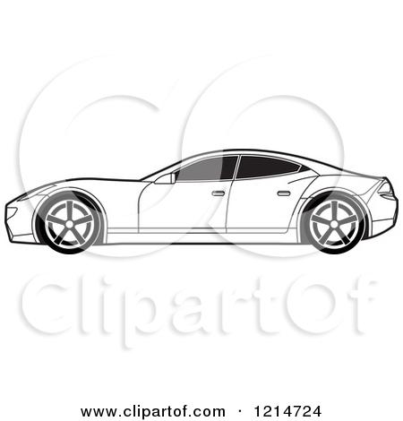 Sportscar Clip Art Black And White