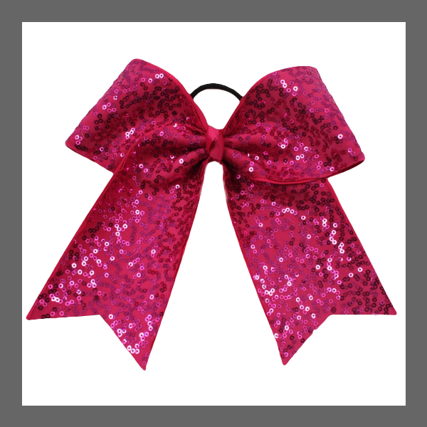 Cheer Bow Sequin Pink