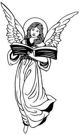 Religious Angel Black Clipart - Clipart Kid