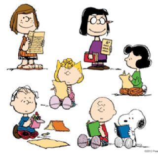 Classroom Clipart  Peanuts Gang Reading   Other School Activities