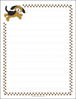 Click Here To Print A Pdf Format Puppy Dog And Paw Prints Letter