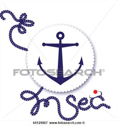 Clip Art   Nautical Design Anchor  Fotosearch   Search Clipart