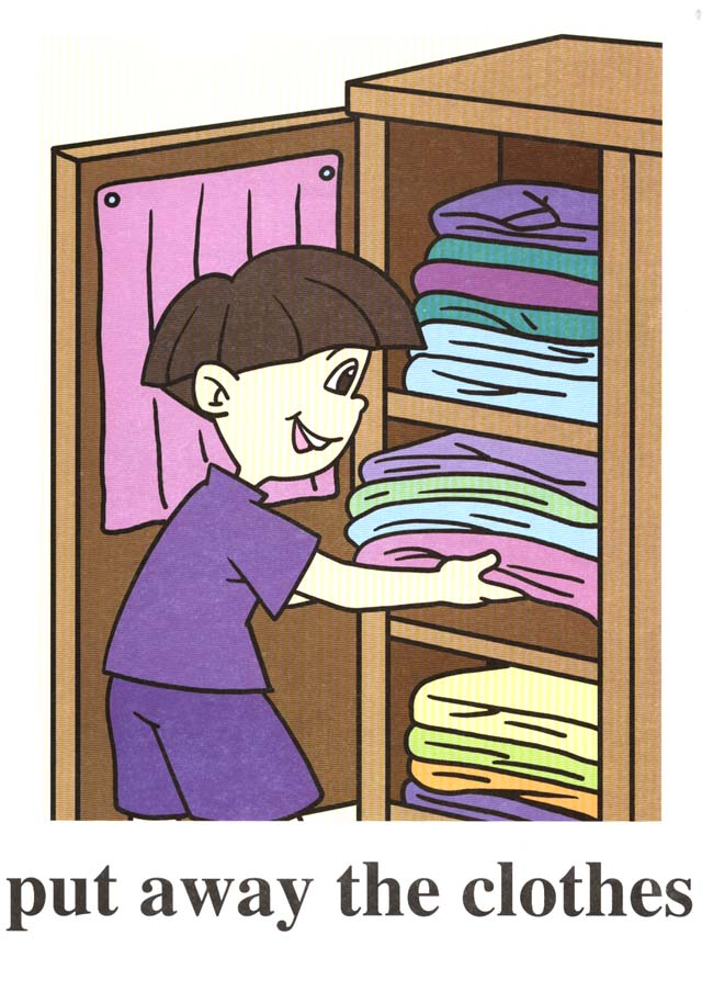 Put Clean Clothes Away ~ Put away clothes clipart suggest