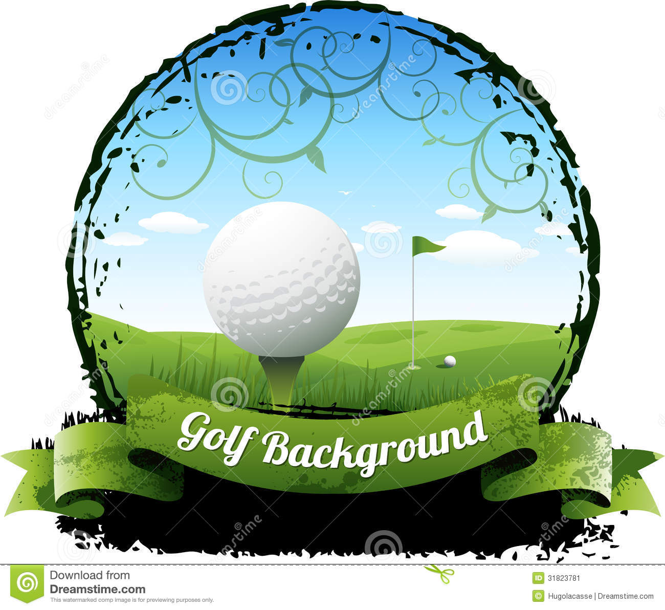 Golf Tournament Clipart Golf Background Stock Image
