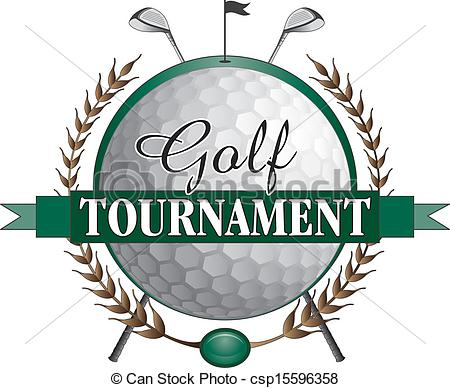 Illustration Of A Golf Tournament Design  Contains Golf Clubs And Golf