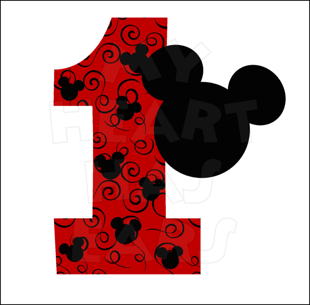 Mickey Mouse 1st Birthday Clipart   Clipart Panda   Free Clipart