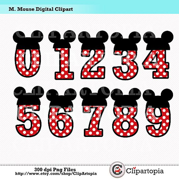 Mouse Digital Clipart   Diy Mickey Party For By Clipartopia  5 00