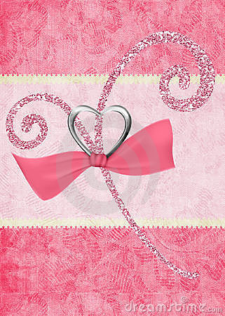 Pink Glitter Design On Pink Background Stock Photo   Image  12421400