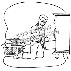 Put Laundry Away Clipart