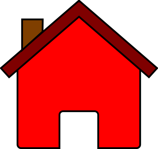 Red House Clip Art At Clker Com   Vector Clip Art Online Royalty Free