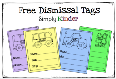 School Dismissal Clipart Of Dismissal Tags  With My