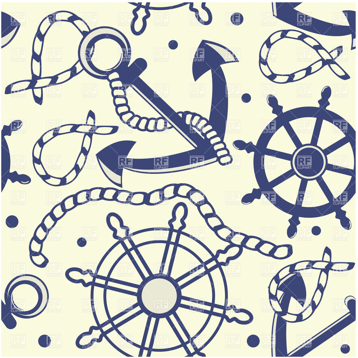 With Anchor Helm And Rope Download Royalty Free Vector Clipart  Eps