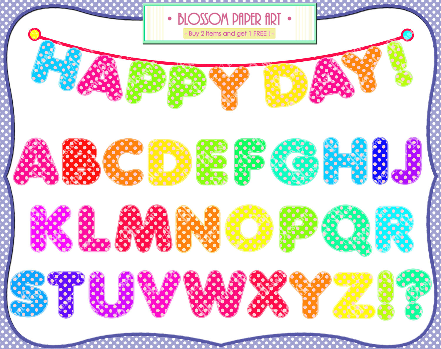 Alphabet Clipart Digital Letters Printables By Blossompaperart