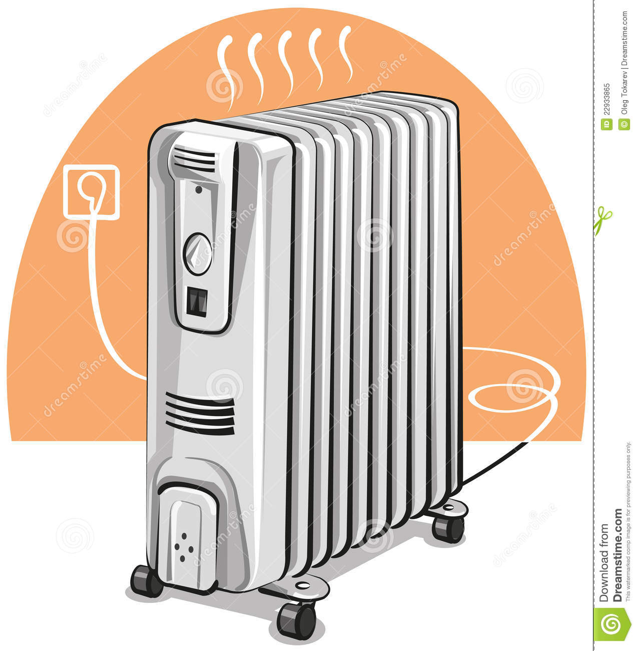 Electric Oil Heater Royalty Free Stock Photo Image 22933865 #BD5A0E