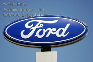 Ford Motor Company Sign Above A Car Dealership Clipart   Ford Motor