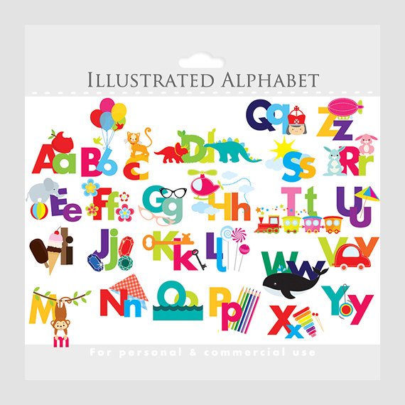 Individual Alphabet Letters Clipart