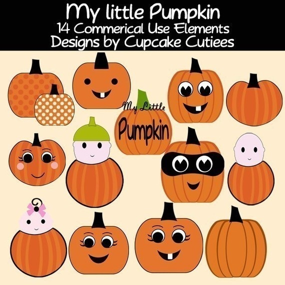 Little Pumpkin Clipart Commercial Use For Cards By Cupcakecutiees  5