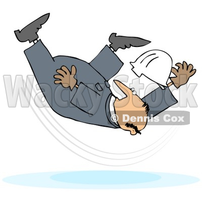 People Falling In Water Clip Art