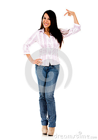 Thumbs Pointing To Self Clipart Woman Pointing At Herself