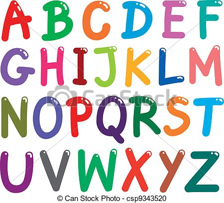 Vector Clipart Of Colorful Capital Letters Alphabet   Illustration Of