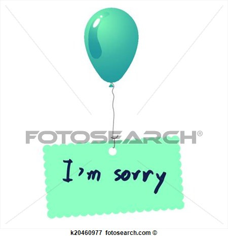 Clip Art   I M Sorry Card Vector  Fotosearch   Search Clipart