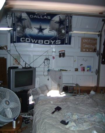 Cluttered Messy Junky Bed In Garage Chandler Arizona Home House For