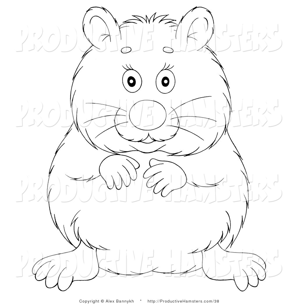 Hamster Black And White Clipart - Clipart Kid