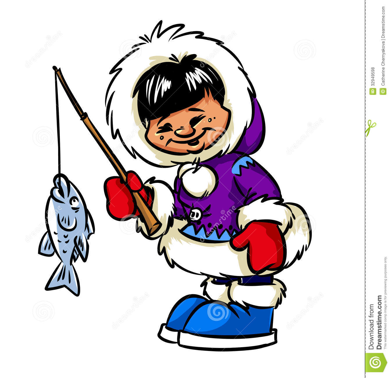 Clip Art Eskimo Clipart eskimo clipart kid happy boy and fish royalty free stock photos image 32949598